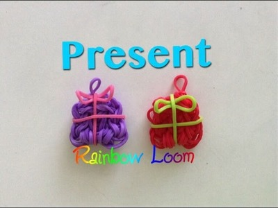EASY Rainbow Loom Present Charms Christmas Holidays