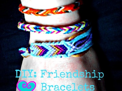 Fashion DIY: Friendship Bracelets Chevron. Box Braid | Gloss and Sparkle