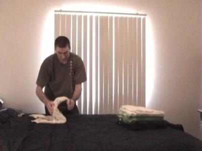 Fold towel heart swans