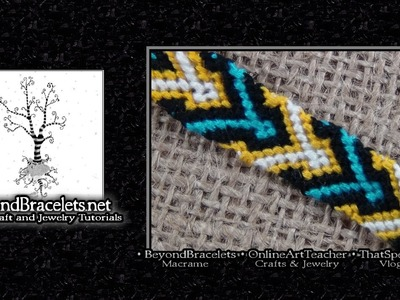 ► Friendship Bracelet Tutorial - Beginner - Diamond Chevron