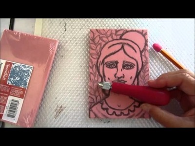 Hand Carved How to Carve a Stamp Linocut Tutorial