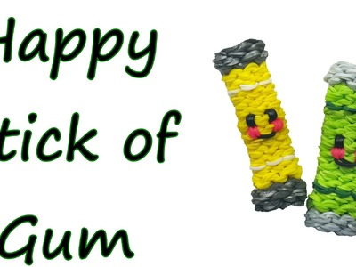 Happy Stick of Gum Tutorial by feelinspiffy (Rainbow Loom)