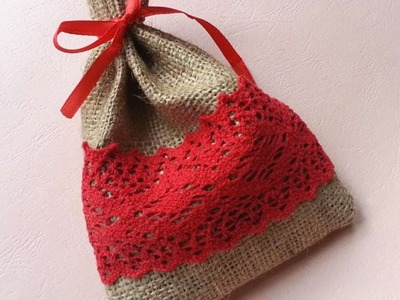 How To Create Pretty Burlap Lace Gift Bag - DIY Crafts Tutorial - Guidecentral