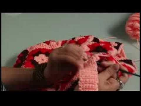 How to Crochet a Bag : Crochet: Finish Attaching Bag Strap
