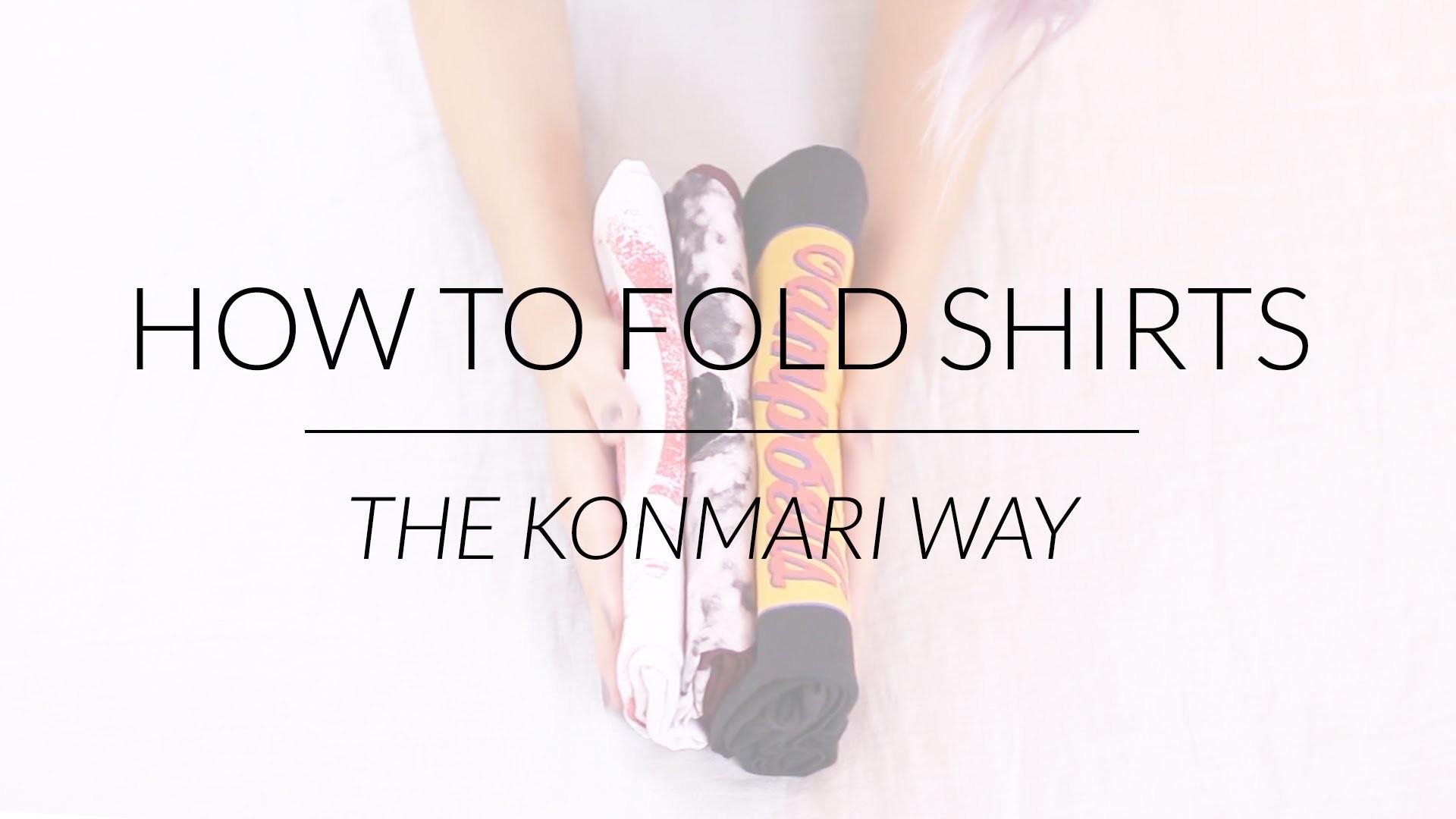 How to Fold Shirts & Tank Tops | KonMari Method by Marie Kondo
