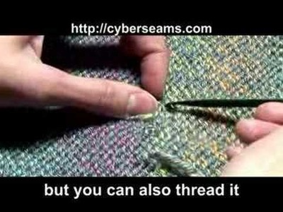 How to Knit - Weave In Loose Ends