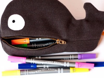 How To Make a Cute Whale Zipper Pouch - DIY Style Tutorial - Guidecentral
