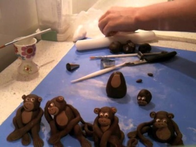 How to make a fondant monkey