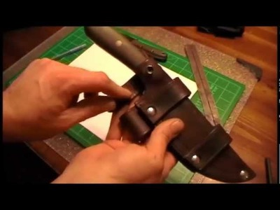 How to make a leather sheath part 1