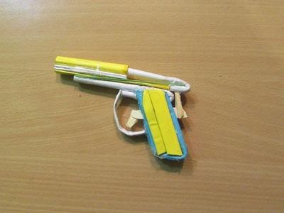 How to Make a Paper Nano Gun that shoots paper bullet - Easy Tutorials