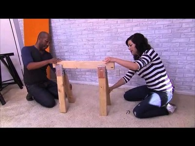 How to Make a Trendy Sawhorse Desk