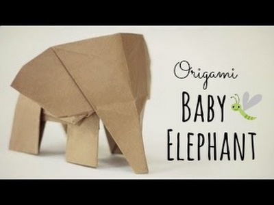 How to make an Origami Baby Elephant. (Tadashi Mori)