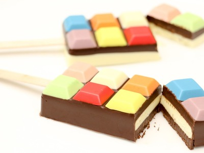 How To Make Colored Chocolate Pops by CakesStepbyStep