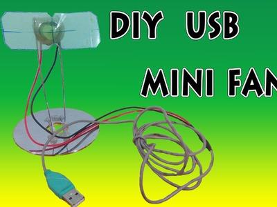 How to make Mini USB Fan, DIY  Usb Mini Fan
