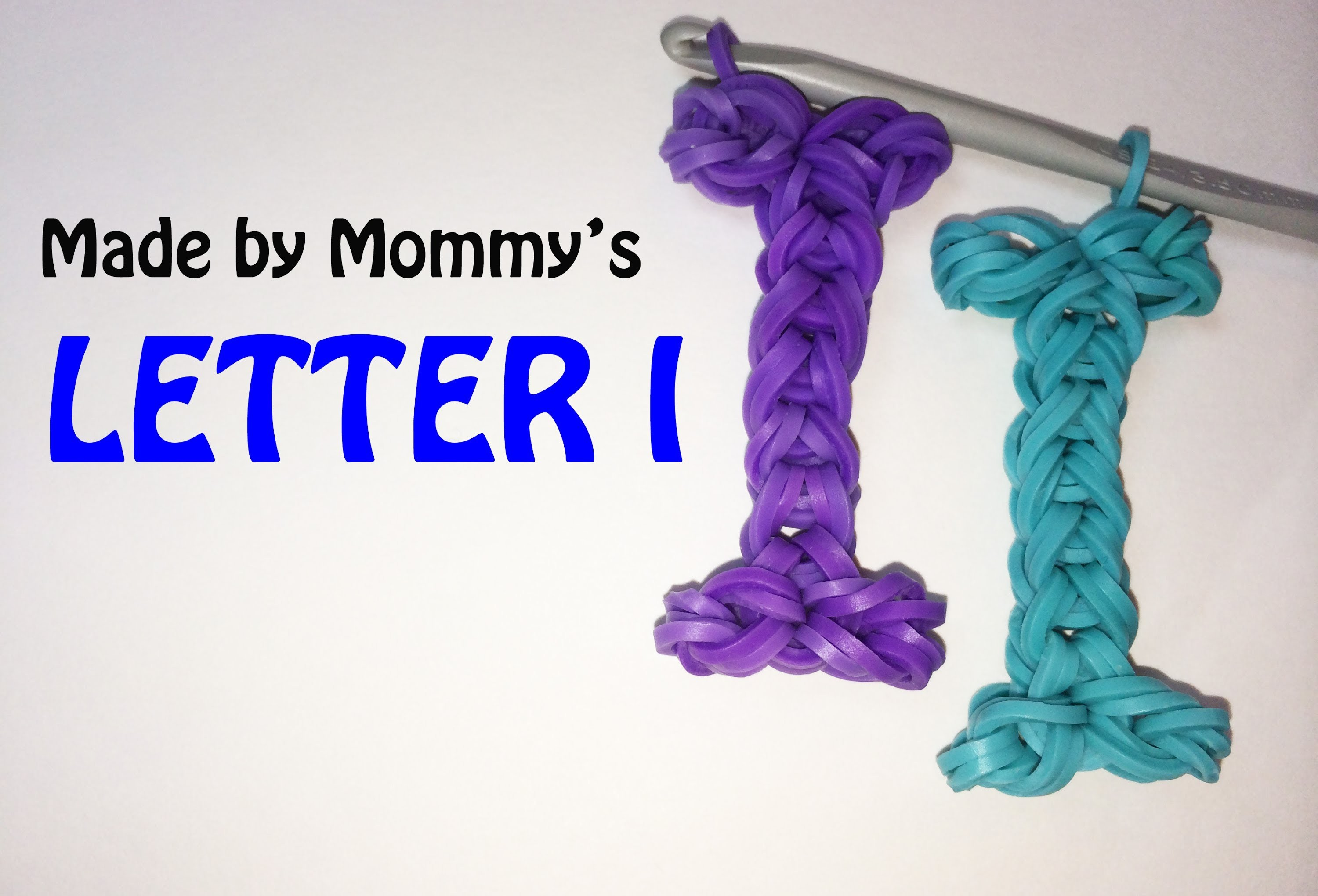 Letter I Charm Without the Rainbow Loom