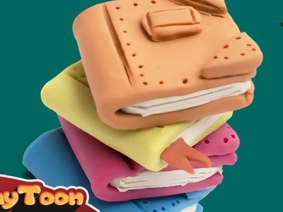 Lots of books, Polymer clay (plasticine) tutorial for kids