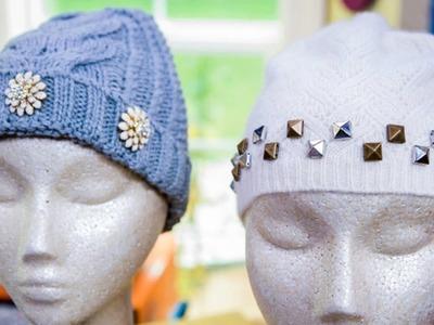 Maria Provenzano's DIY Jeweled Winter Hats