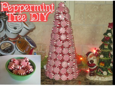 Minute DIY: Christmas Decor - Peppermint Mini Tree