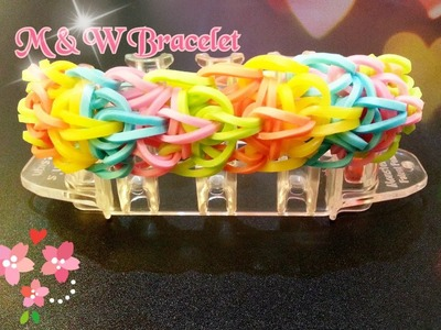 New M & W Rainbow Loom Bracelet Tutorial(Original Design) ~ How To