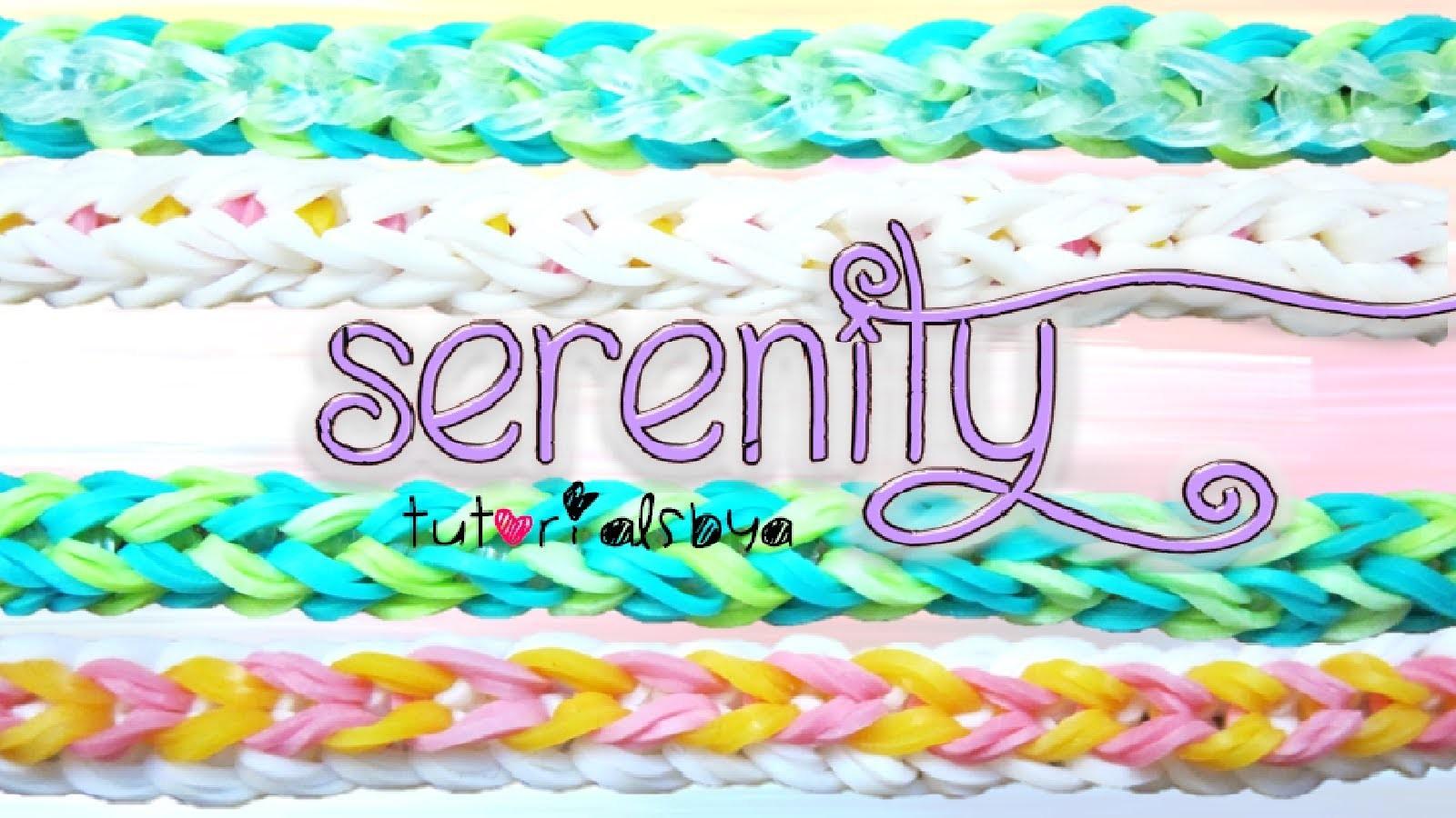 NEW REVERSIBLE Serenity Rainbow Loom Bracelet Tutorial | How To