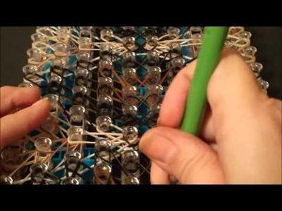 NEW! Twisted Fan Bracelet on the Rainbow Loom 4 looms