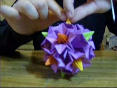 Origami 9 - Handball of Bellflower Kusudama (Part 2 of 2) - Assembly