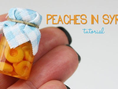 Polymer clay Peaches In Syrup TUTORIAL