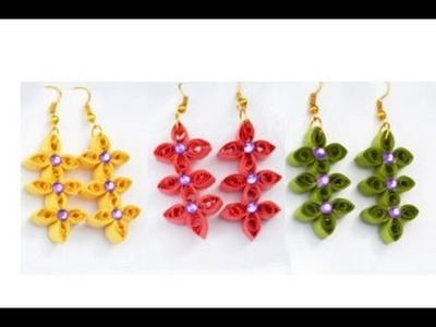 Quilling papers earring |  paper earring making tutorial video | quilling earrings