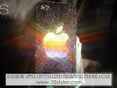 Rainbow Apple Crystallized Swarovski iPhone 4 Case from dsstyles.com