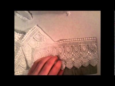 Shabby chic - No sew pouch tutorial using fabri tac glue