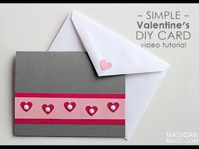 Simple Handmade Valentines Card
