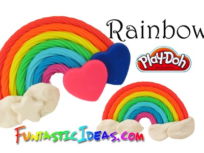 Super Easy Play Doh Rainbow - How to playdough.Cold Porcelain Clay