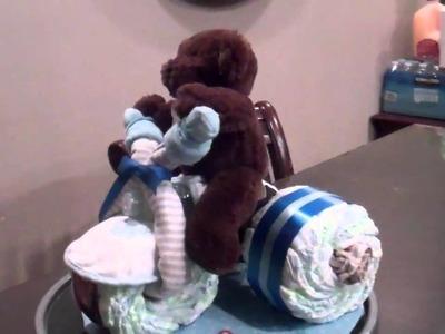 Teddy Bear Bike Baseball Diaper Cakes 008.MP4