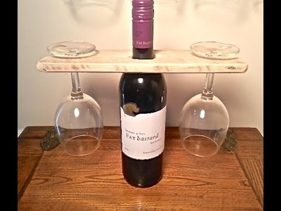 WOOD PALLET WINE BOTTLE AND GLASS DISPLAY HOLDER -PALLET PROJECTS