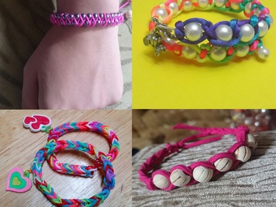 4 Easy DIY Bracelet Projects - Easy handmade Jewelry for Girls - Collection - Tutorial