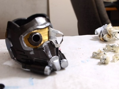 #69: Star-Lord Mask DIY Part 4 -  Details, Lenses, Paint + fitting
