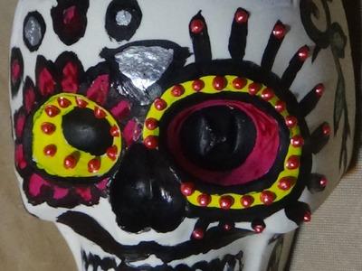 """ASMR. Relaxation- DIY Plaster """"Sugar"""" Skull"""