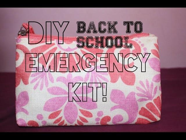 Back To School Diy Emergency Kit