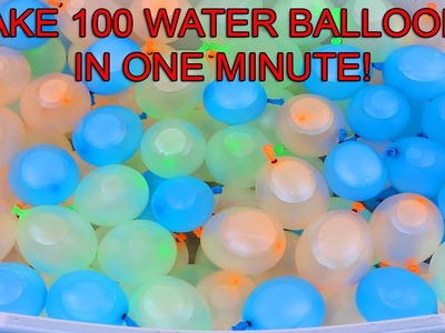 Bunch o Balloons Back to School Magic Water Balloon Fight DIY Make 100 Balloons in ONE Minute!