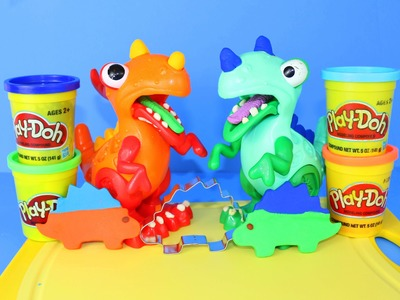 Chomposaurus Play Doh Pet Dinosaur Cookie Cutter T-Rex Stegosaurus DIY Play Dough DisneyCarToys