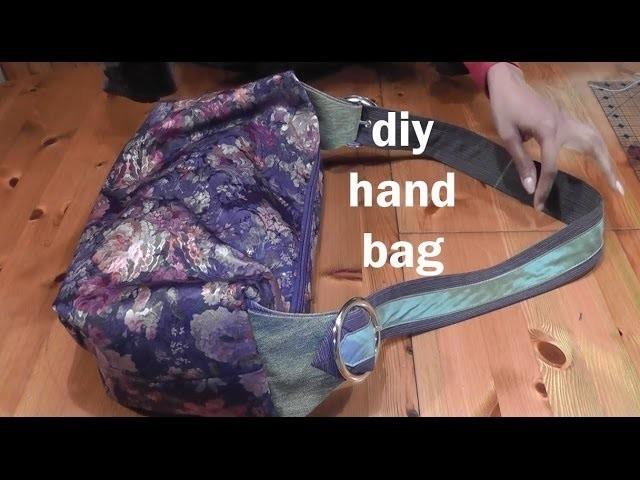 Clara DIY recycled handbag. sewing a sloppy handbag.