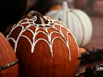 Decorate Pumpkins with DIY Spider Webs