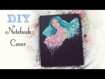 ♡ DIY Artsy Notebook Cover ♡