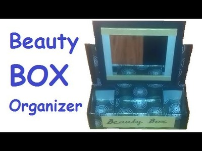 DIY Beauty Box ORGANIZER - Recycle