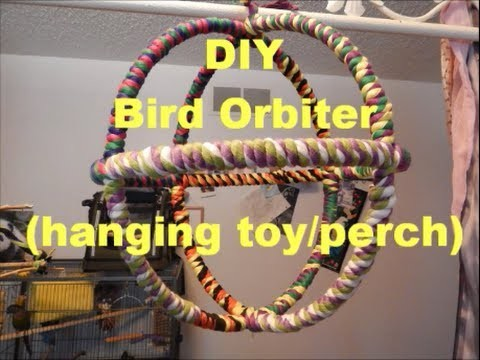DIY: Bird Orbiter (hanging toy.perch)