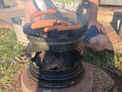 DIY Car Rim BBQ
