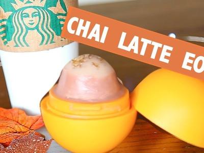 DIY Chai Latte EOS Lip Balm! Starbucks Inspired ♡