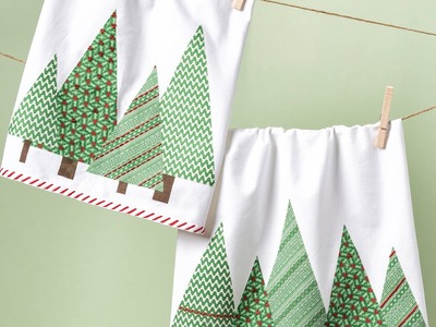 DIY Christmas Gifts   Christmas Craft   Apostrophe S   Tree Towels