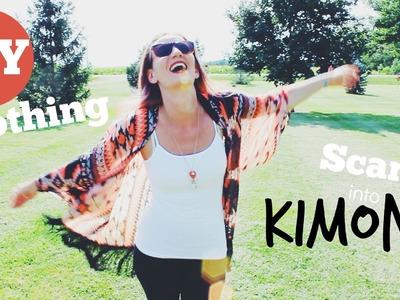 DIY Clothing - Kimono out of a Scarf!