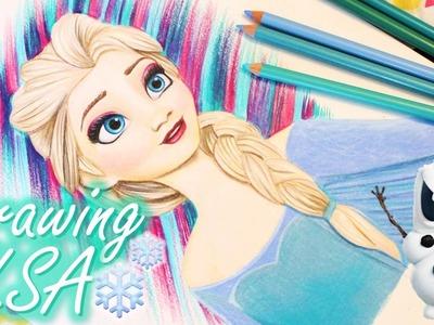 DIY Drawing Elsa From Frozen